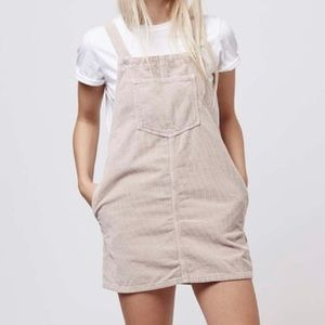 TOPSHOP Moto Corduroy Pinafore Dress